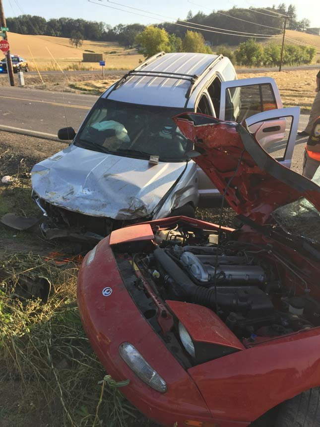 Two people died in a crash in the Carlton area in July 2015. (Photo: Yamhill County Sheriff's Office)