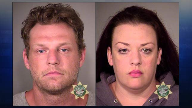 Russell Courtier, Colleen Hunt (jail booking photos)