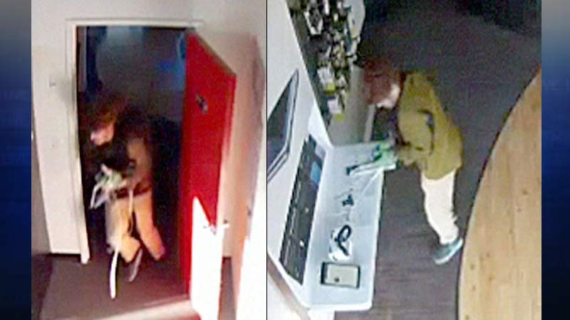 Surveillance images of burglary suspect (Image: Oregon City Police Department)