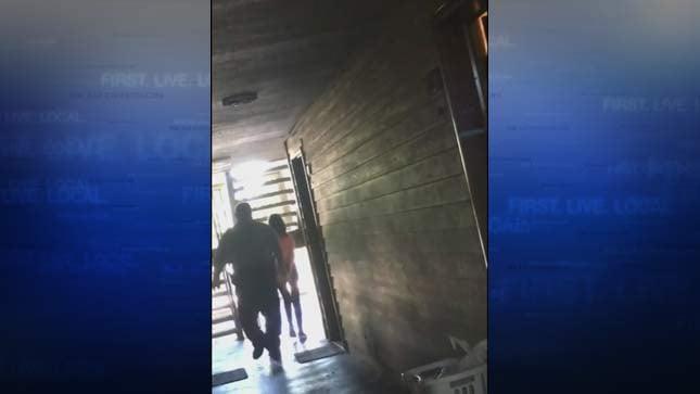 Image taken from video of teen girl arrested by Washington County deputy. (Source: Darren Hall/KPTV)