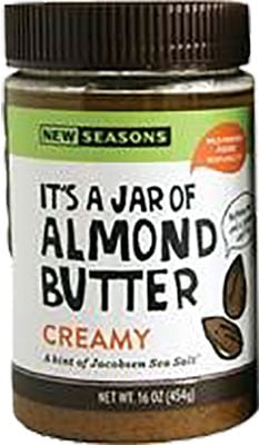 The product code for the recalled New Seasons Market Creamy Almond Butter is 4060010401.
