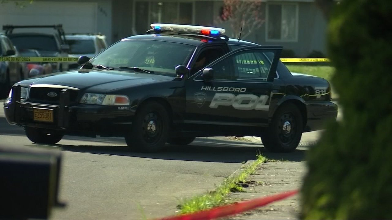 Scene of double stabbing in Hillsboro in April. (KPTV)