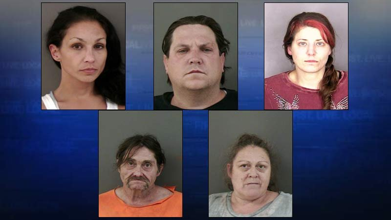 Jail booking photos of arrestees in connection with drug investigations. (Booking photos of Stefanie Foltyn, Frank DeFelice, Trevvor McFee were not available.)