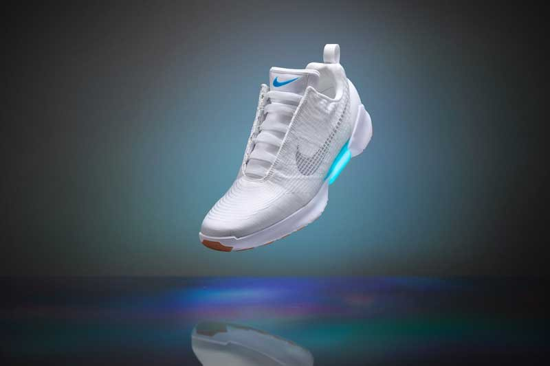 The Nike HyperAdapt 1.0 features automatically-adjusting laces (Photo: Nike)