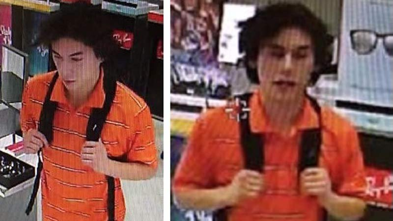 """Wanted theft suspect at the Lloyd Center who police have dubbed """"DJ Gucci Thief."""" (Images released by Portland Police Bureau)"""