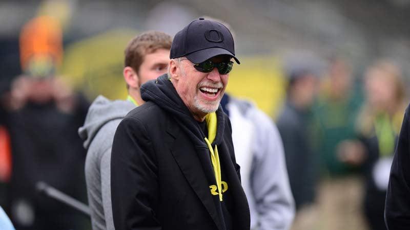Phil Knight during a regular season college football game at Autzen Stadium in Eugene in October 2013. (Photo by Phil Ellsworth / ESPN Images)