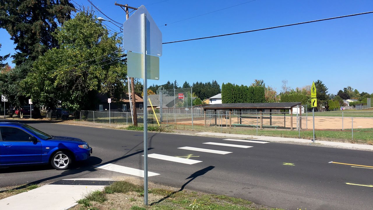 Parents living near Ladd Acres Elementary in Hillsboro said there is constantly heavy traffic, especially in the morning, in the area near the school where a woman, her toddler and her 5-year-old were hit in a crosswalk Wednesday. (KPTV)