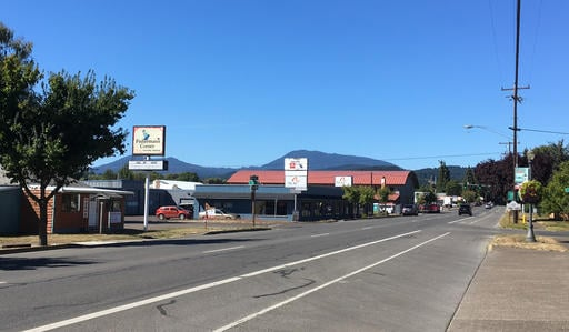 (AP Photo/Andrew Selsky). Downtown Philomath is shown on Sept. 12.