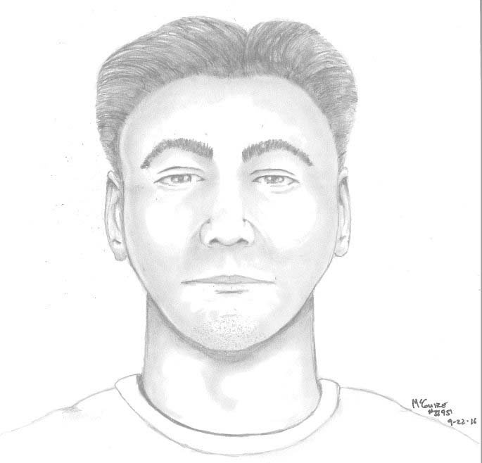 Forensic sketch of wanted sexual assault suspect. (Source: Portland Police Bureau)
