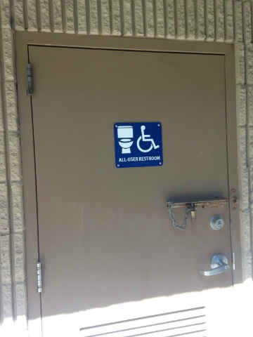 One of the new signs Portlanders will see on single-user restrooms throughout the city. (Photo: Office of Commissioner Nick Fish)