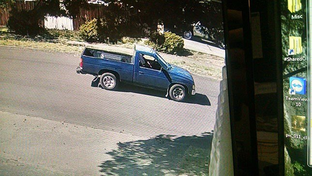Deputies are looking for a late-model blue Nissan pickup truck in connection with a shooting in northeast Salem.  (Photo: Marion County Sheriff's Office)