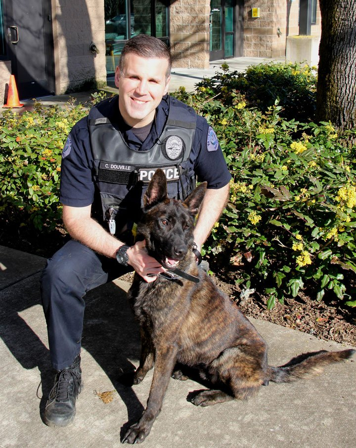 Officer Chris Douville and K-9 Doc recently joined the Vancouver Police Department. (Vancouver Police Department)