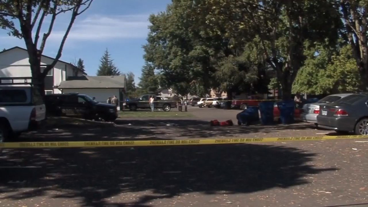 Deadly shooting scene in Salem on Sunday (KPTV)
