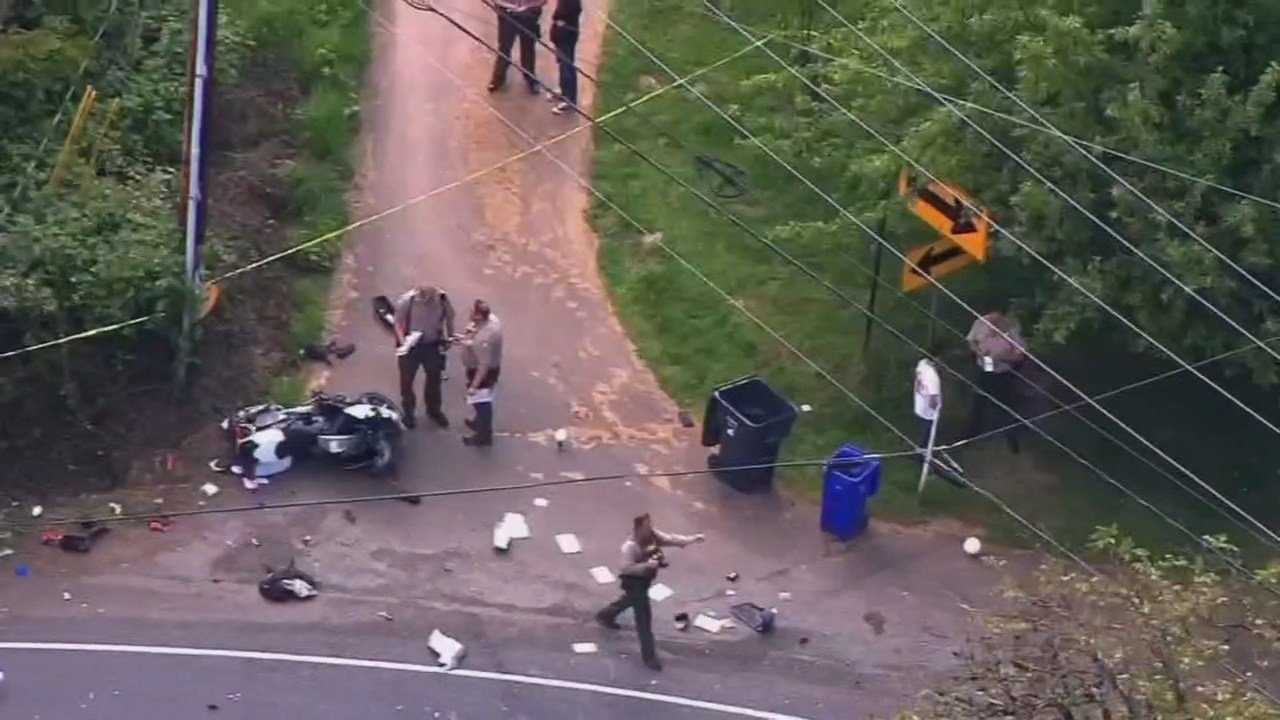 May 2015 crash scene involving Deputy Robby Nashif (KPTV file image)