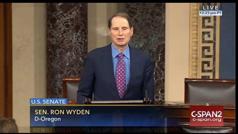 Sen. Ron Wyden, D-Ore. (Photo: C-SPAN)