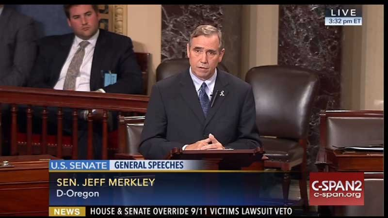 Sen. Jeff Merkley, D-Ore. (Photo: C-SPAN)