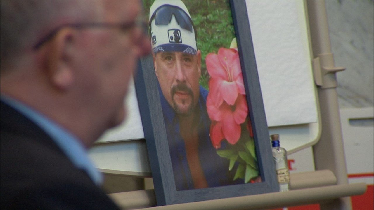 Photo of Ted Swan in court Wednesday. (KPTV)