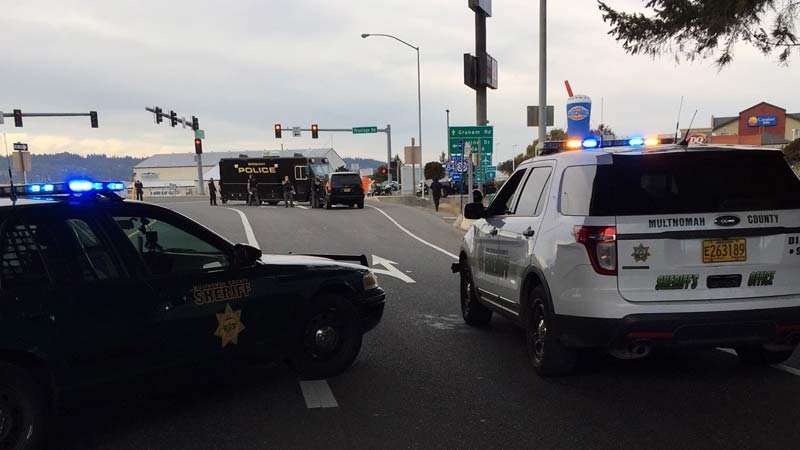 Deadly crash scene in Troutdale. (Photo: Multnomah County Sheriff's Office)