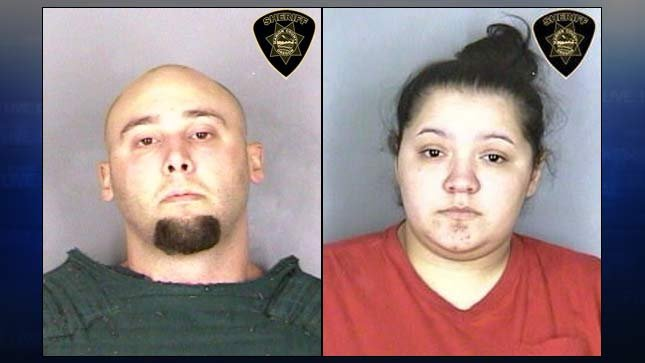Jail booking photos of David Elliott, Mercedes Alvarado