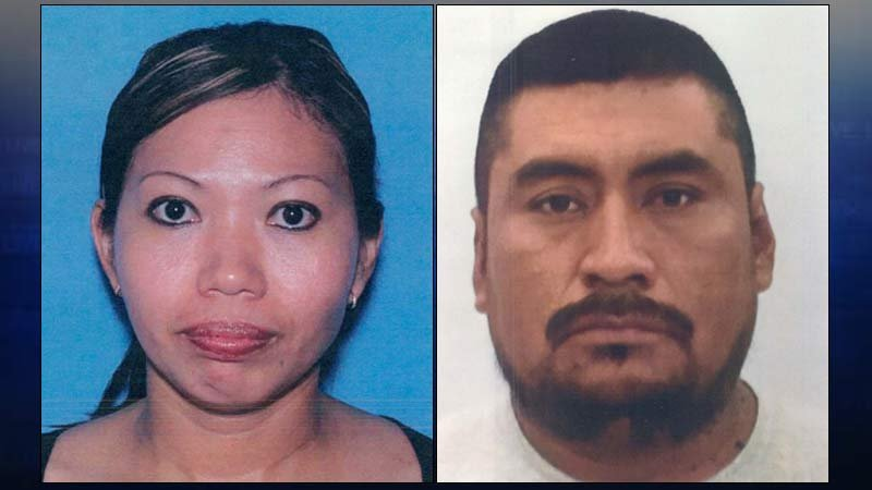 Homicide victim Lilia Cosco-Ortiz and person of interest Victor Melcher Villalba. (Photos: Yamhill County Sheriff's Office)