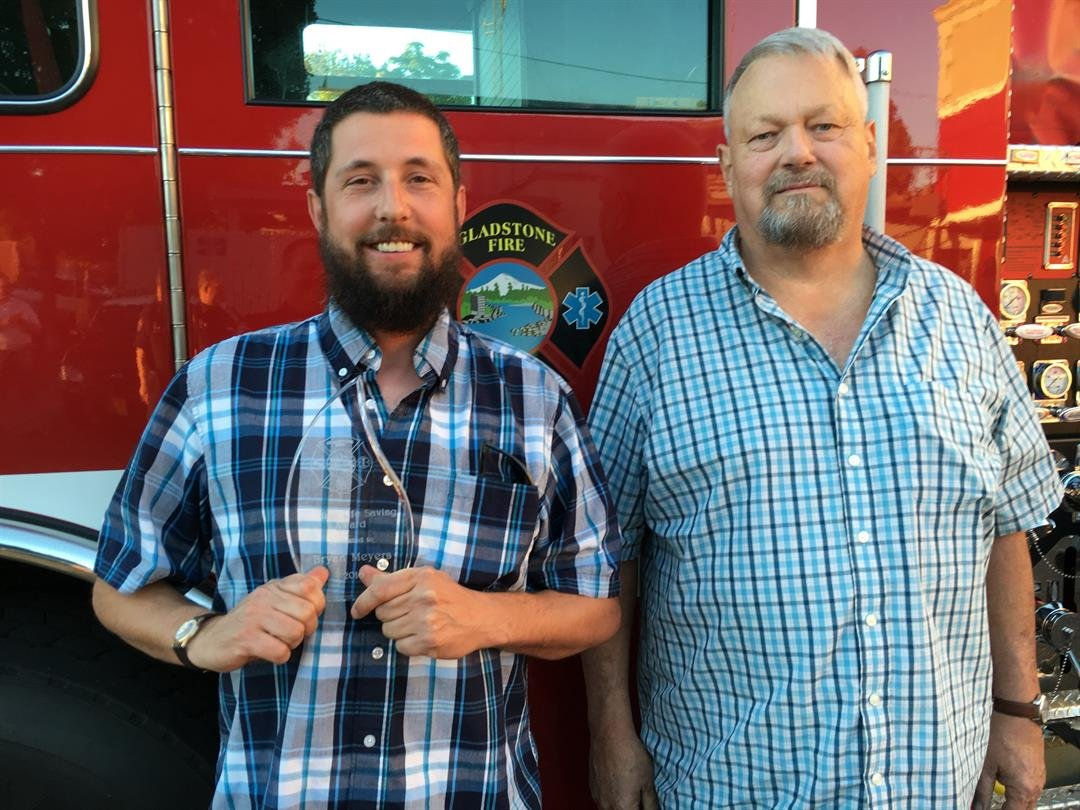 Bryan Meyers (left) and Steve Barton (right), courtesy Gladstone Fire Dept.