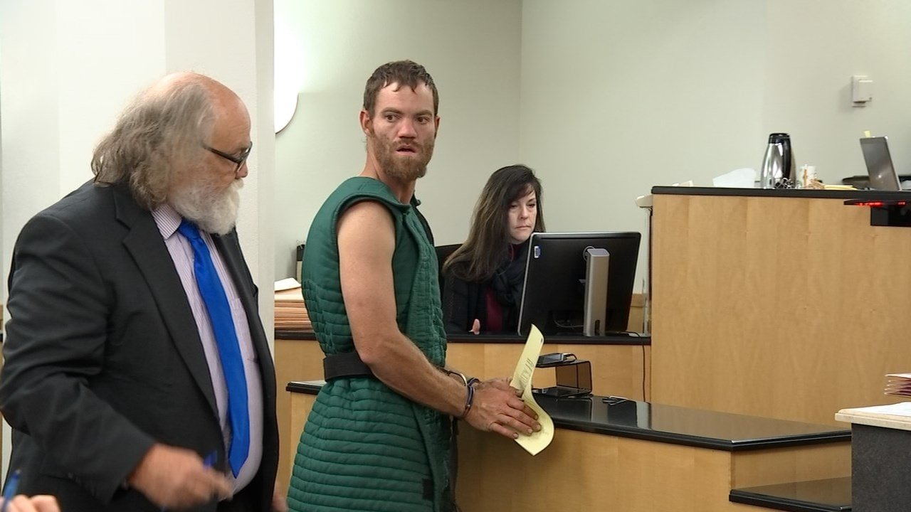 Shaun Sprague in court Thursday. (KPTV)