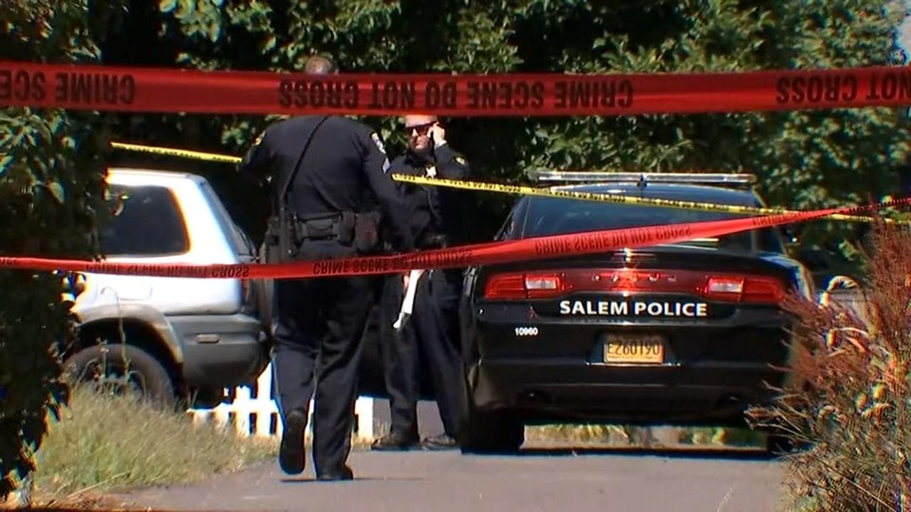 Salem deadly shooting scene in August. (KPTV file image)