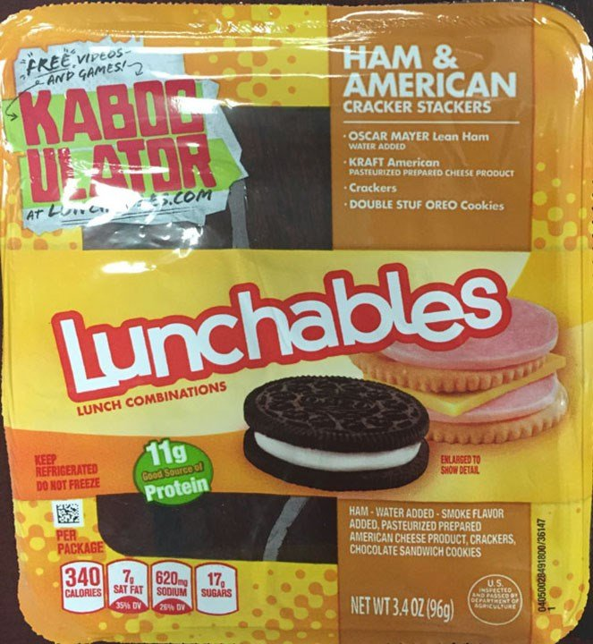 Recalled Lunchables variety front packaging (USDA)