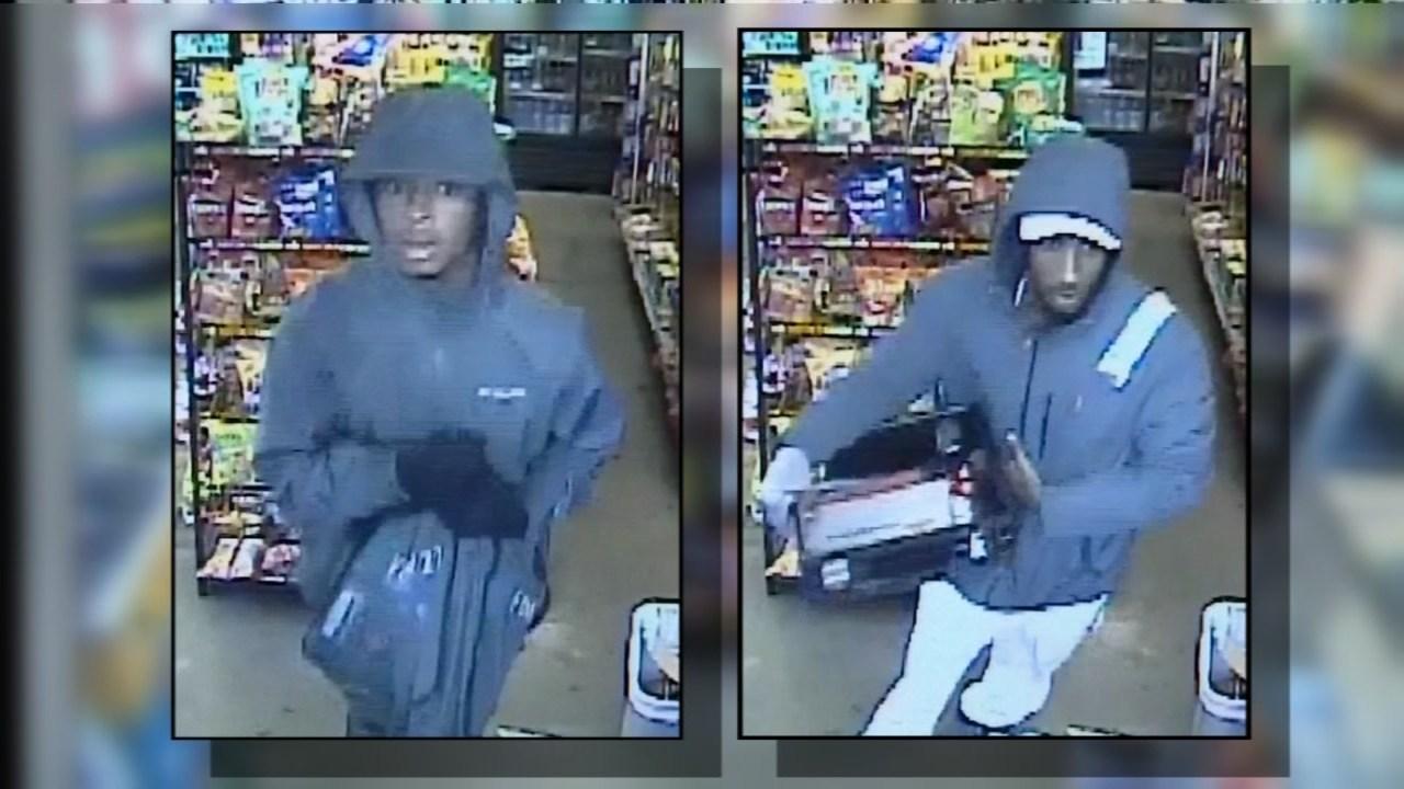 Surveillance images of the two suspects (Portland Police Bureau)