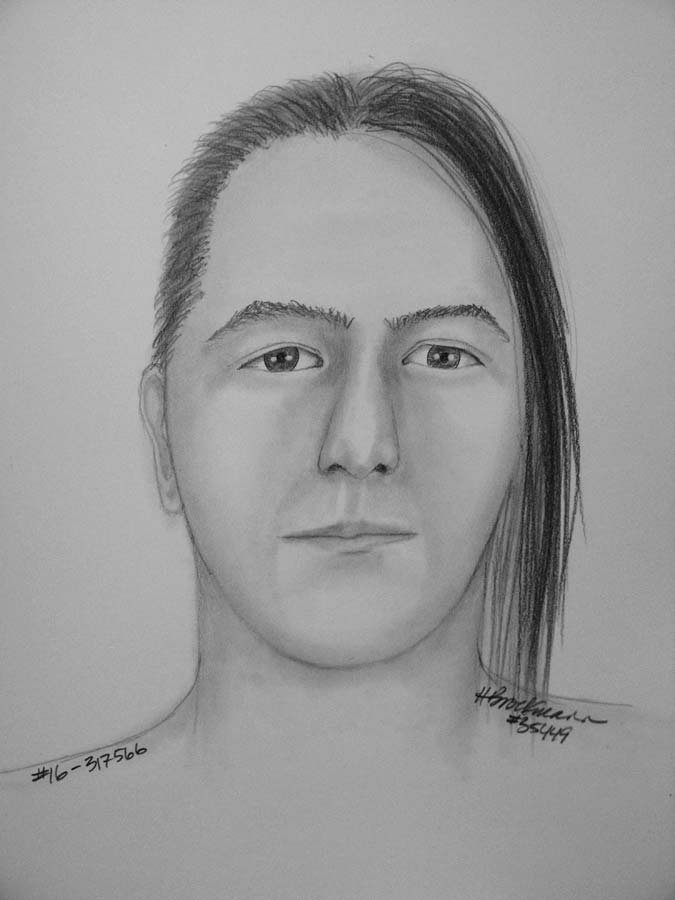 Suspect sketch from the Portland Police Bureau.