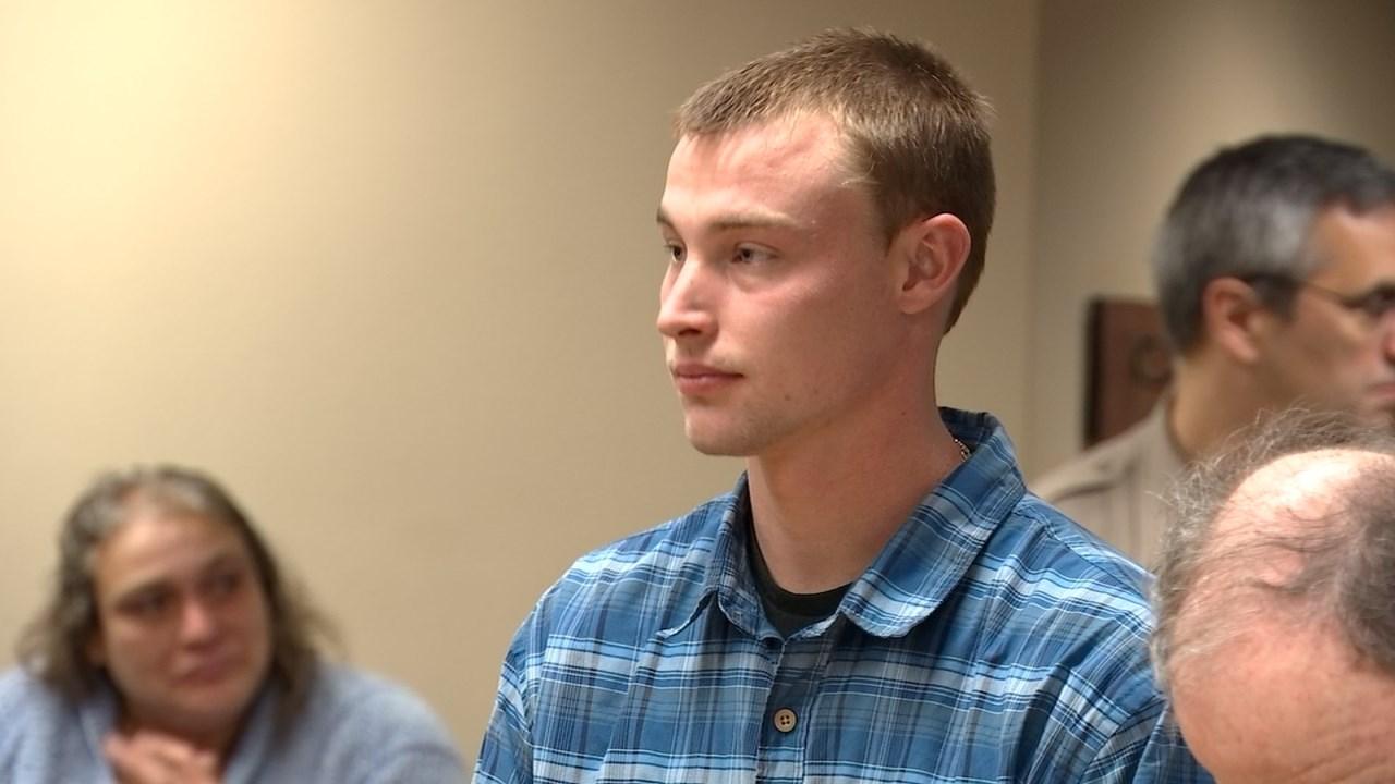 Luke Bowman in court Thursday. (KPTV)