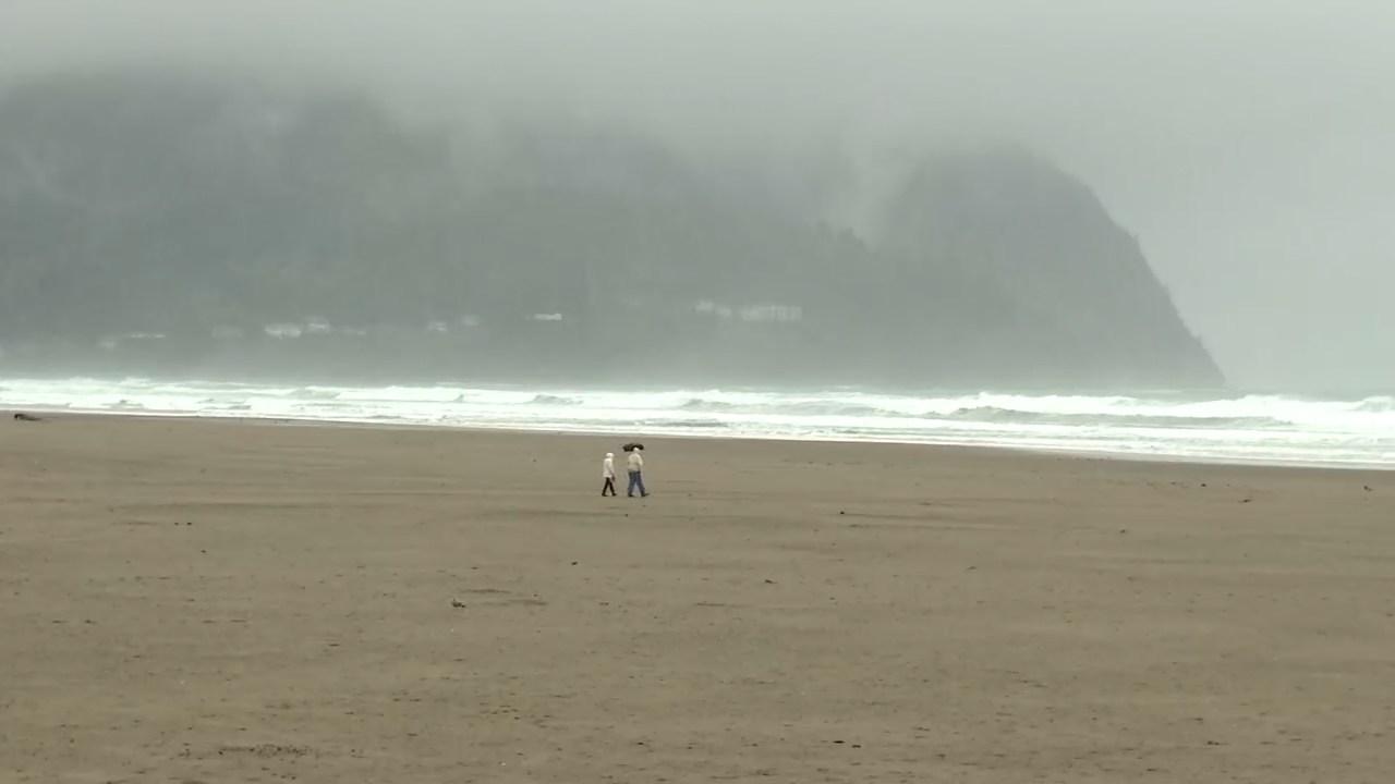 Oregon coast Thursday. (KPTV)