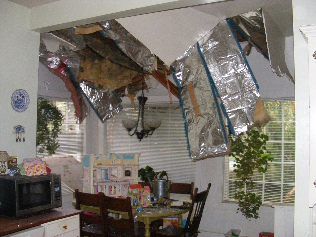 Some of the interior damage at the home. (KPTV)
