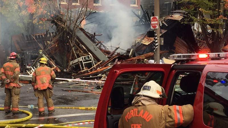 Scene of natural gas explosion in northwest Portland. (KPTV)