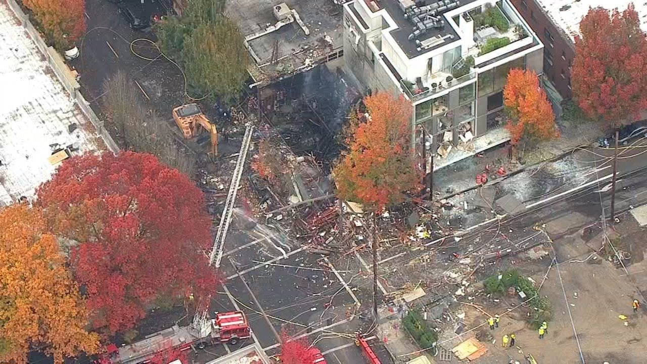 AIR 12 over the scene after the natural gas explosion (KPTV)