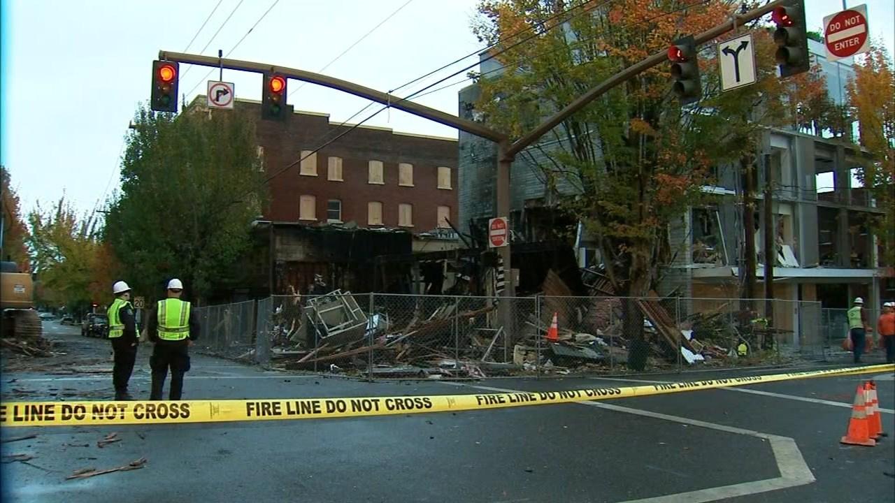 Explosion site in northwest Portland. (KPTV)