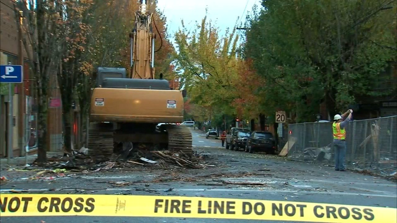 Explosion site in northwest Portland. (KPTV)
