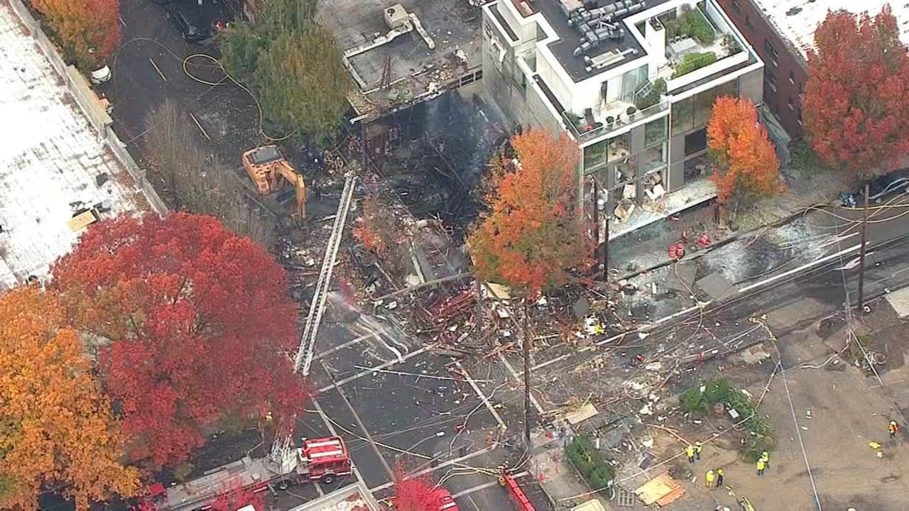 Explosion site in northwest Portland in October. (Air 12/KPTV)