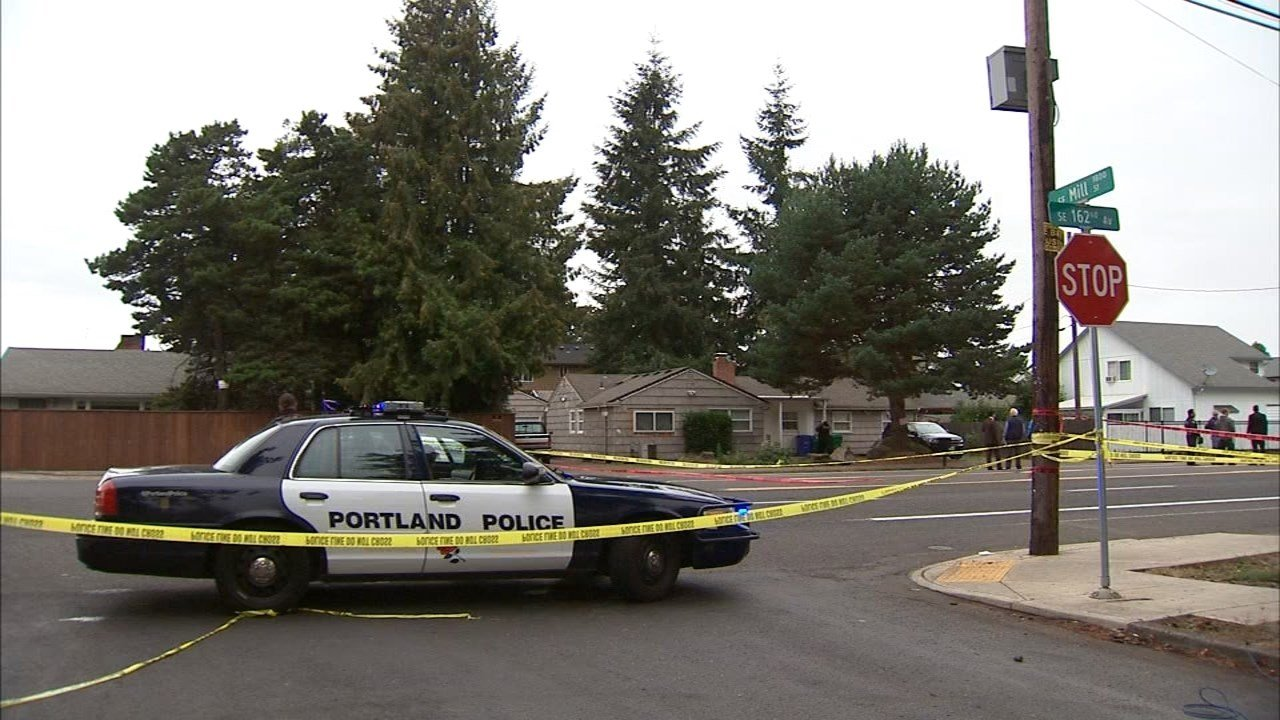 Deadly shooting scene on Southeast 162nd Avenue in Portland in September. (KPTV file image)