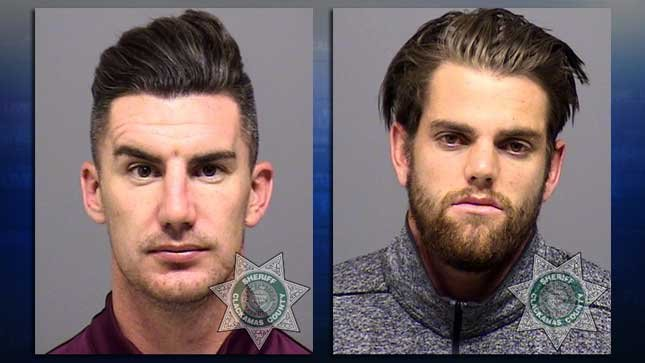 Liam Ridgewell (left) and Jacob Gleeson (right), jail booking photos