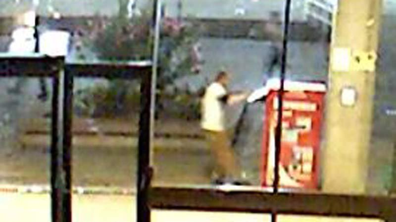 Surveillance image of Mount Hood Community College vandalism suspect. (Gresham PD)