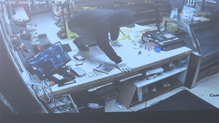 Surveillance image of the suspect (Promontory Marina)