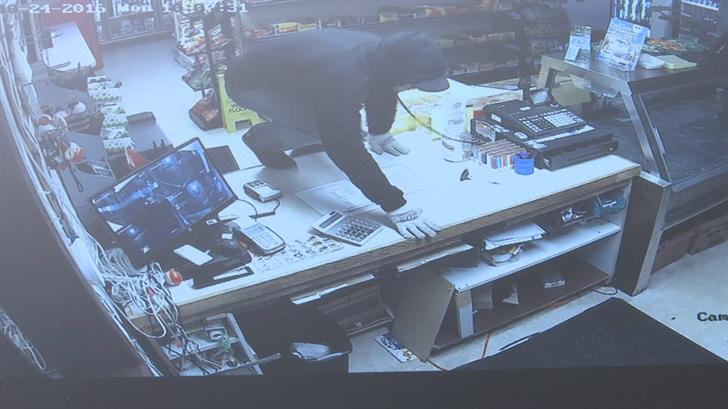 Surveillance image of the suspect (Promontory Marina)