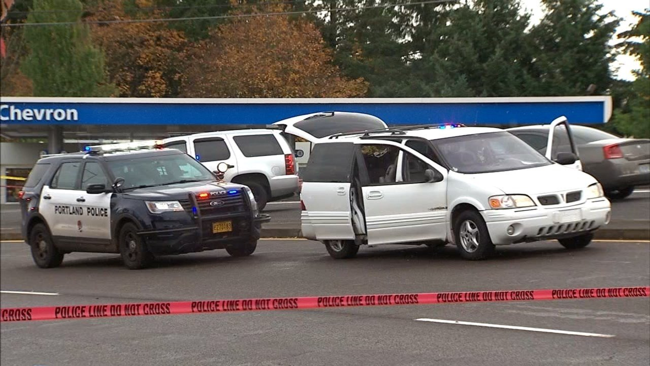 Shots were fired from a van at pursuing officers, according to police. (KPTV)