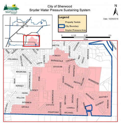 Boil water advisory issued Wednesday and lifted Friday (City of Sherwood)