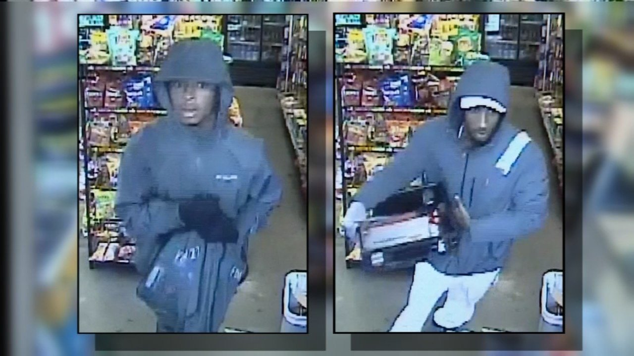 Surveillance image of Portland robbery suspects (KPTV)