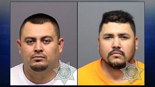 Jail booking photos of Raul Villanueva-Sosa and Jose Nataren-Duarte.
