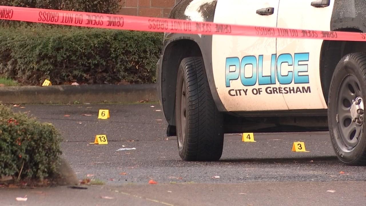 Deadly shooting scene in Gresham (KPTV)