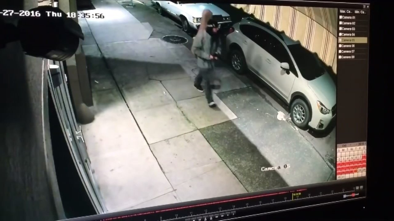 Surveillance video of the man who smashed a car window and stole a purse from a car outside Sprout Factory. (Courtesy: Sprout Factory)