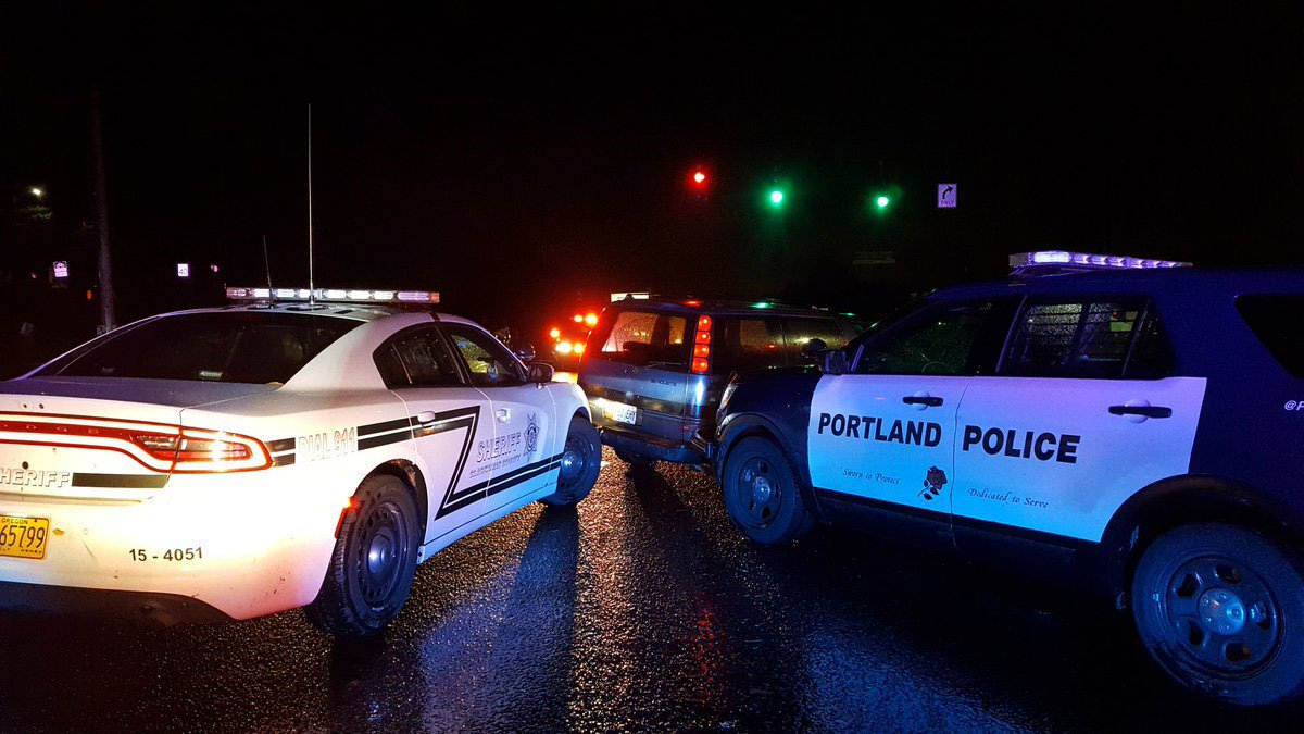 Portland police, Milwaukie police and Clackamas County deputies were involved with a high-speed chase early Monday morning. (Portland Police Bureau)